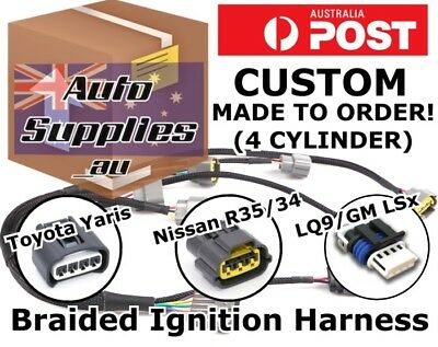 Custom Ignition Coil Harness Wiring Loom DIY R35 Yaris LQ9 LS R8 SR EVO CA ‎4G63