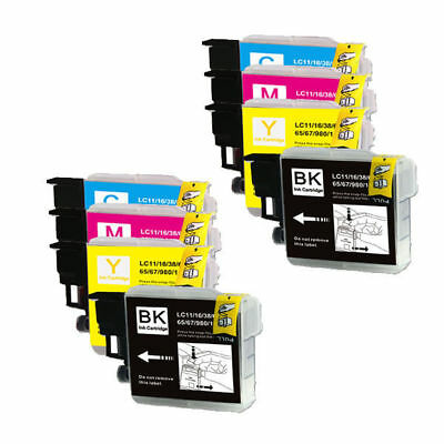 8 PK Ink Cartridges Compatible for Brother LC61 MFC-295CN  MFC-490CW MFC-J265w
