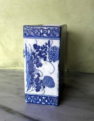 Antique Blue And White Porcelain Chinese Pillow.