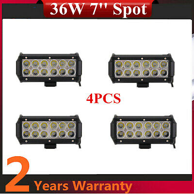 """4pcs 7"""" 36W Led Work Light Bar Spot Beam Offroad Driving for SUV Boat Truck 300W"""