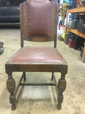 Oak antique dining chairs