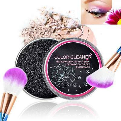 Color Makeup Brush Clean Eye Shadow Sponge Cleaner Tool Iron Box Switch AU