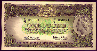 ONE POUND NOTE: COOMBS and WILSON: CRISP and UNC   NO  RESERVE
