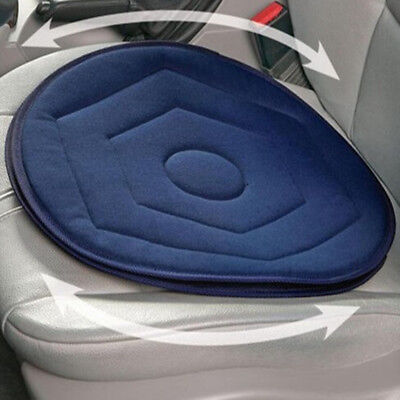 Memory Foam Rotating Swivel Car Chair Seat Mobility Aid Cushion Office Pad Blue