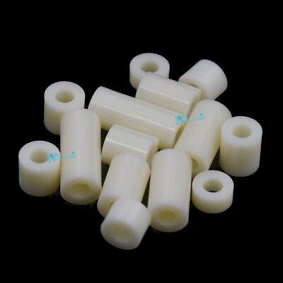 M3 M4 M5 M6 M8 Plastic Nylon ABS Non-Threaded Standoff Spacer Washer Screw Bolt