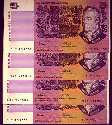 4 x $5 NOTES:  FRASER & COLE UNC  4 YOUR CHILDREN or GRAND-CHILDREN