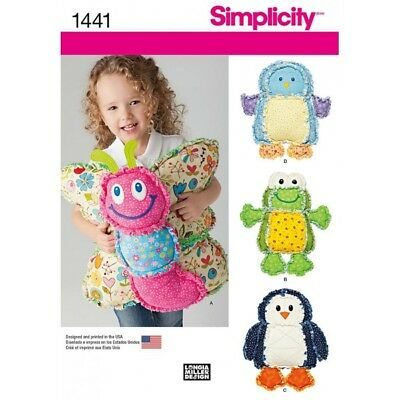 SIMPLICITY RAG QUILTED Animal Pillows Craft Sewing Patterns 1441 ...