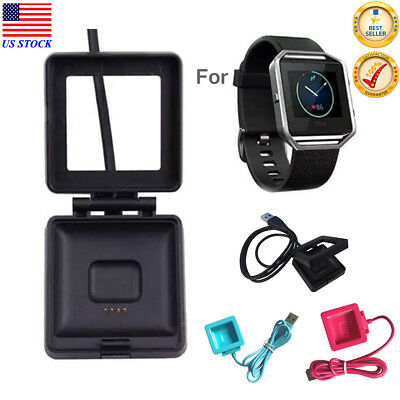 USB Cable Cradle Dock Charging Charger For Fitbit Blaze Smart Fitness Watch US