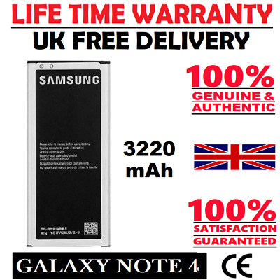 Genuine Replacement Battery For Samsung Galaxy Note 4 Four SM-N910C 3220mAh New