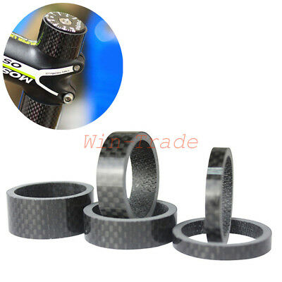 "MTB Bike Bicycle Carbon Fiber Gloss Headset Spacer Washer 1 1/8""×3/5/10/15/20mm"