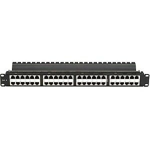 Black Box SpaceGAIN 48-Port CAT6 High-Density Feed-Through Shielded Patch Panel