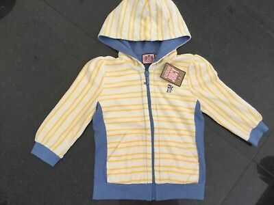 NWT Juicy Couture New & Genuine Girls Age 8 Yellow Cotton Hoody With Scotty Logo