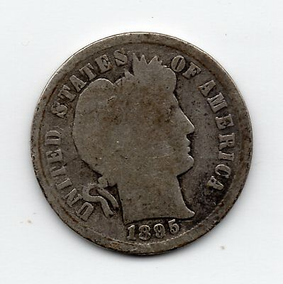 1895-S silver Barber Dime - free shipping - better date
