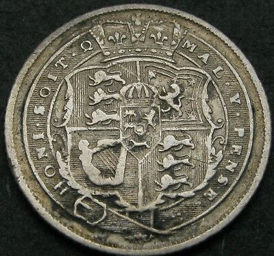 GREAT BRITAIN 6 Pence 1817 - Silver - George III - VF - 2161 ¤