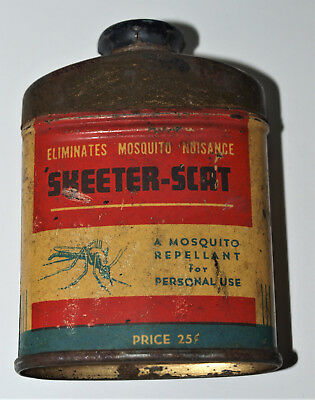 Vintage Tin Can with SHEETER -SCAT Mosquito Repellant.