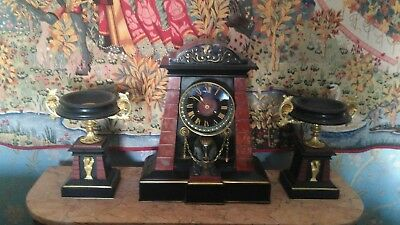 Egyptian Revival Mantel Clock