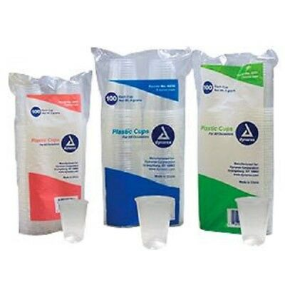 *NEW!* Drinking Cup Dynarex 5 oz. Clear Polypropylene Disposable - Pack of 100
