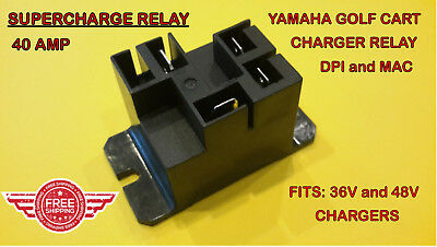Yamaha Dpi Mac Golf Cart Charger Supercharge Relay M1406-50-0 Gca-Ju278-00-000