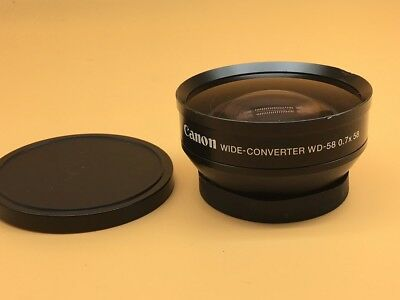 Canon WD-58 0.7x Wide Angle Converter Adaptor Lens For 58mm Filter Ring - (#3)