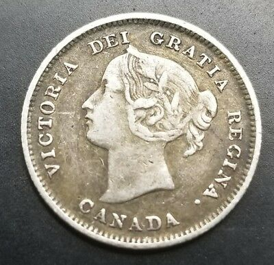 Canadian 1896 Nickel .925 Silver Coin [AK8743]