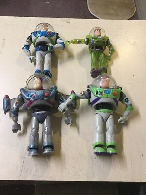 Lot of 4 Vintage Buzz Lightyear 3-12 inch and 1-9 inch