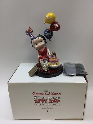Danbury Mint Betty Boop 75th Anniversary Collector Doll - 2005 *MINT Condition*