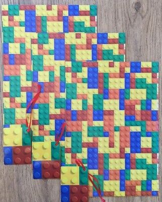 Lego Gift Wrap Set - 3  Wrapping Paper Sheets & 3 Tags - Gift Wrap - 50 cm x 70