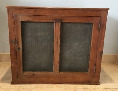 Antique Lord Roberts Memorial Workshops Meat Safe, Pine & Mesh Good Condition