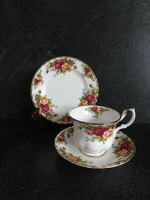 Royal Albert Old Country Roses Trios - Tea Cup, Saucer & Tea Plate - Exc Cond