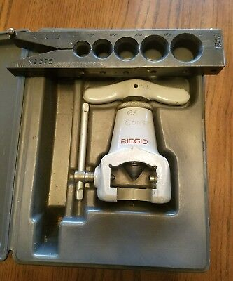 "RIDGID® Model No. 375  Flaring Tool, 37 Degree SAE Flares 1/2""-1"" tubing"