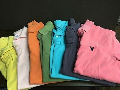 American Eagle lot of 7 men's small golf shirts