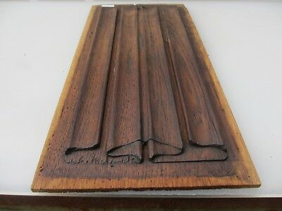 Victorian Carved Wooden Panel Plaque Door Vintage Antique Scroll Georgian Old