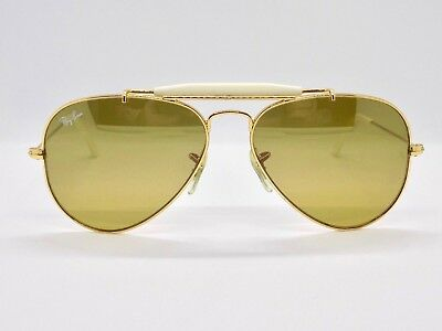 Ray Ban Small Outdoorsman Aviator Flash Lens RB3407 55mm + Case