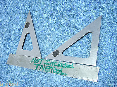 Triangles Angle Gage Blocks 45* 30* Vintage Toolmaker Machinist Inspection Qa!!!