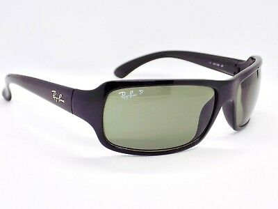Ray Ban Polarised Highstreet Wrap RB4075 601/58 Sunglasses & case