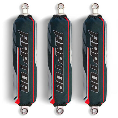 Grey / Red Shock Covers Yamaha Raptor YFM 250 350 660 R Special Edition (set 3)