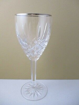 "Waterford Araglin Platinum Water Goblet  7 7/8"" X 3 1/8"" -0104B"