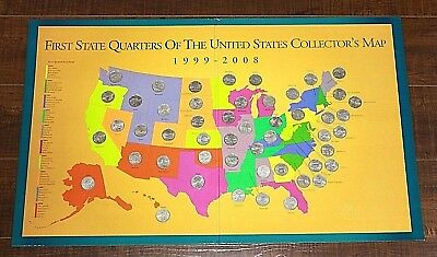 First State Quarters of the United States Collector's Map w/ 50 Quarters [04WEI]