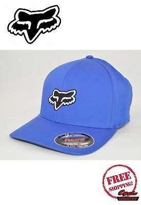 51518b24602 FOX RACING BRAND Hat Adult Legacy Moth Logo 110 Snapback Blue New ...