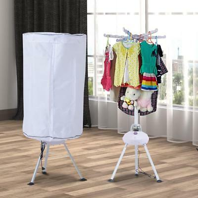 Heated Clothes Drying Rack Portable Hot Air Electric Laundry Dryer Rail 900W
