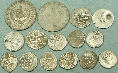 Lot Of 15 Ottoman Silver Coins