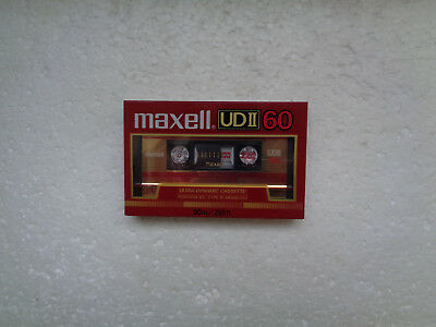 Vintage Audio Cassette MAXELL UDII 60 * Rare From Japan 1985 * For Collector