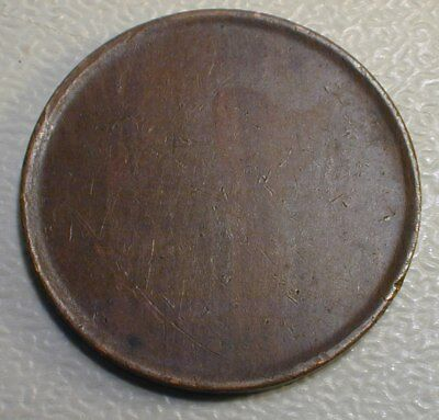 USA Large Cent Blank Palanchet Mint Error  Mint State Condition Brown    (RSZPD)