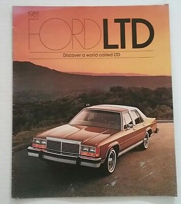 Vintage 1981 Ford LTD 16 Page Car Auto Sales Brochure Free Shipping