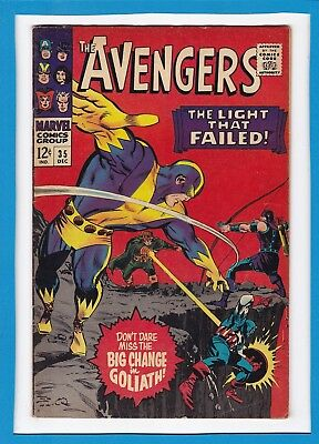 "Avengers #35_December 1966_Fine+_Goliath_""the Light That Failed""_Silver Age!"