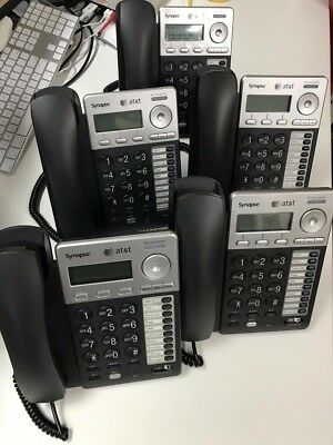 LOT of 5 AT&T Model SB67025 Synapse Business VoIP Phones USED CONFIRMED WORKING