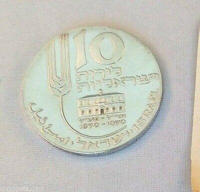 ISRAEL 1970 Mikveh Centenary Proof Coin~10IL 26g SILVER 900 IN THE ORIGINAL CASE