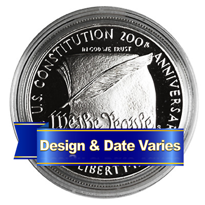 U.S. $1 Silver Commemorative Random Year Proof or Uncirculated