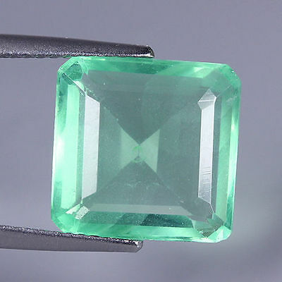 NATURAL ULTRA RARE GREEN FLUORITE OCTAGON 7.35 Ct GEMSTONE