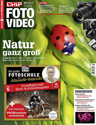 CHIP FOTO - VIDEO 5 - 18, Natur, Sony Alpha 7, Olympus PEN + unben. DVD, wie NEU